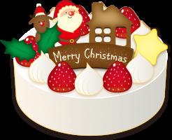 クリスマスケーキのサイズはいくつある?人数の目安は?